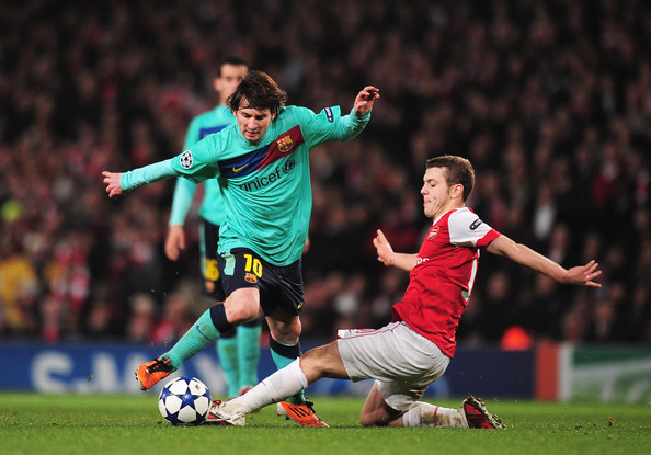 Arsenal-Barcelona-wilshere-messi
