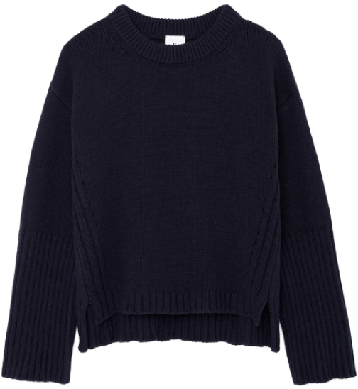 G. Label van nice high-cuff crewneck sweater