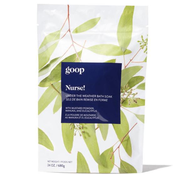 goop Beauty Nurse! Under The Weather Bath Soak, goop, $35