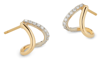 G. Label yellow gold and pavé split earrings