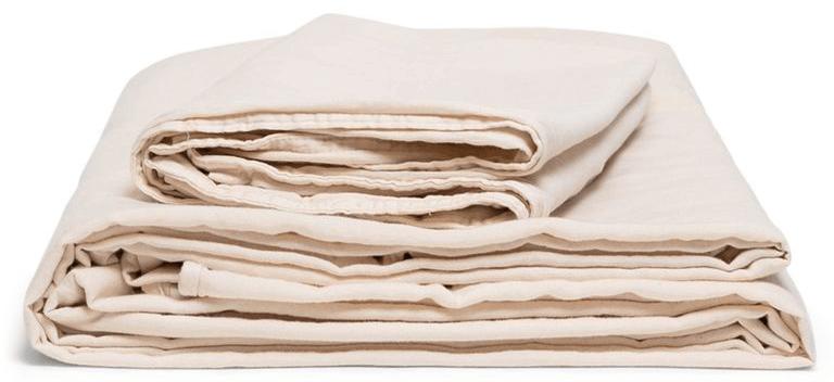 Morrow Organic Matte Sateen Sheet Set in Blush goop, $196