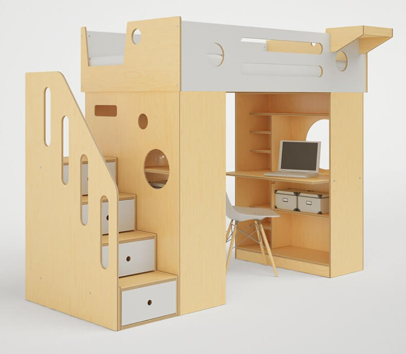 Casa Kids  DUMBO LOFT BED WITH STAIRS