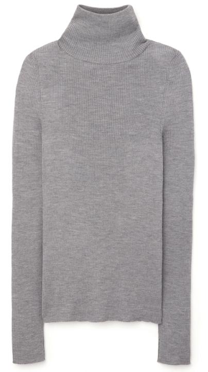 g. label kristina fine-rib turtleneck sweater