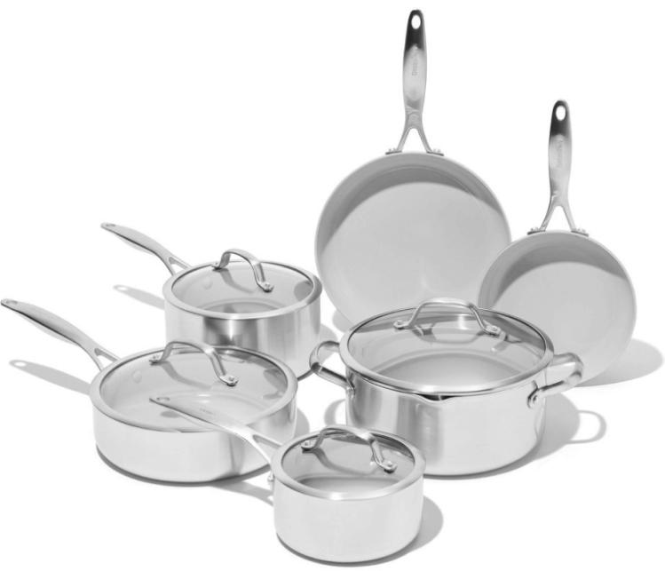 GreenPan Venice Pro Ceramic Non-Stick Cookware, 10 Piece Set