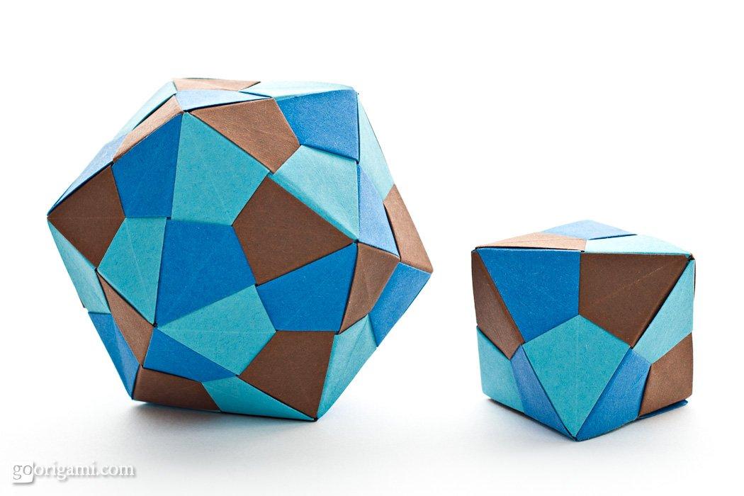 Origami Icosahedron And Octahedron By Tomoko Fuse