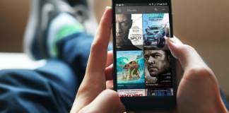 watching showbox on a smartphone