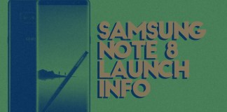 samsung note8 launch info
