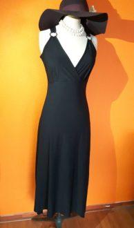 feest, jurk, vintage, goosvintage, tweedehands, lange zwarte jurk