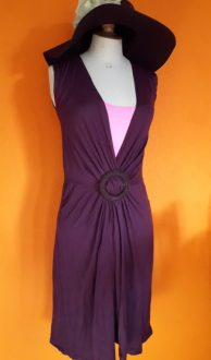 paarse jurk,goosvintage