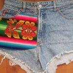 Vintage jeansshort Bongo highwasted maat M/L,goosvinrtage