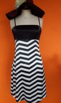 Vintage zomerjurk zwart wit Ayhan maat XS/S,Goosvintage