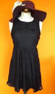 Vintage zwarte kanten jurk Kimchi Blue maat XS,Goosvintage