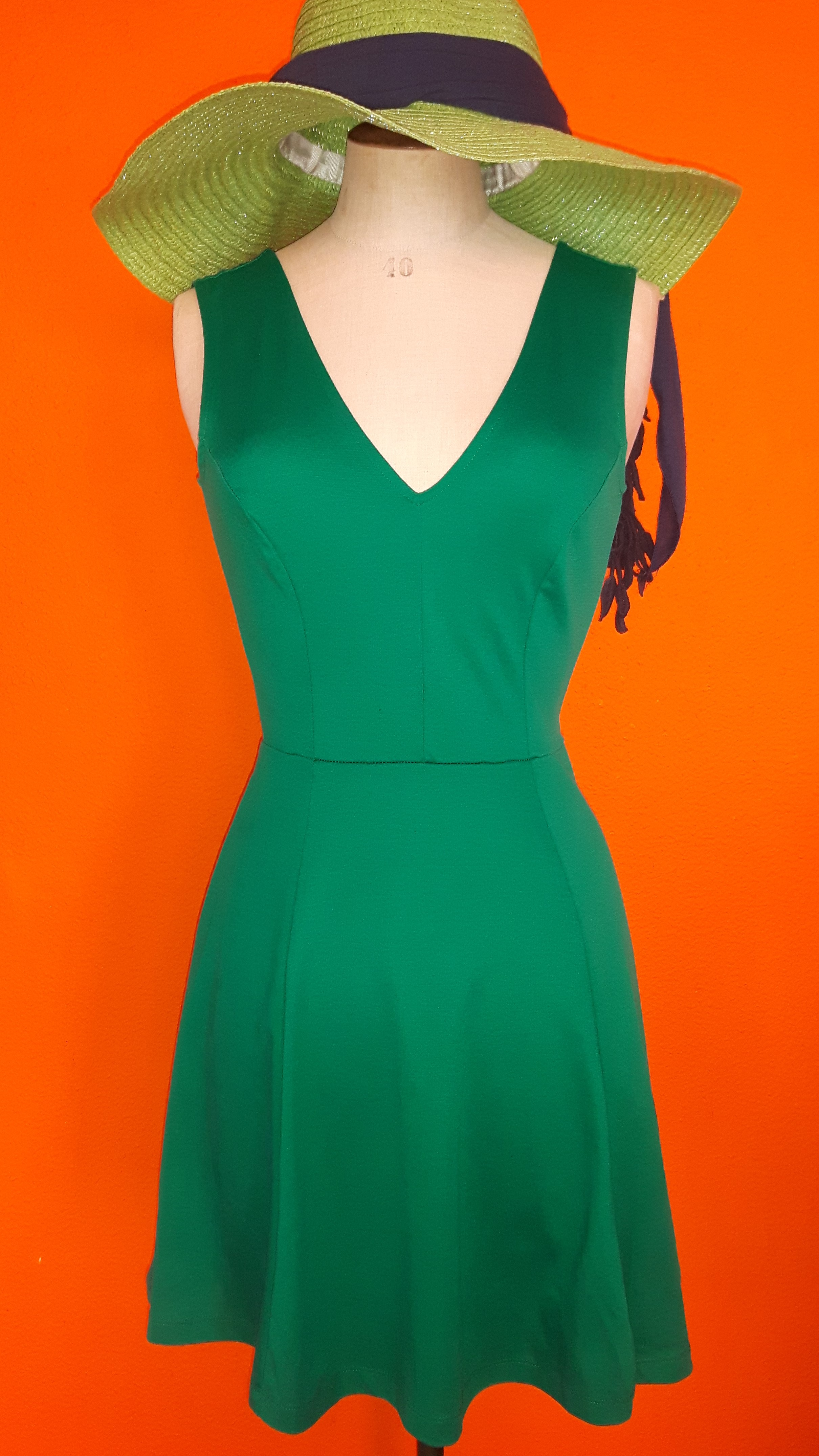 Vintage groen jurkje maat S,Goosvintage
