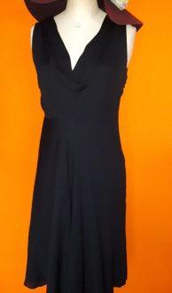 Vintage zwarte designjurk Dajé Couture (Jeffrey Daniels) maat M,Goosvintage