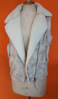 Vintage bodywarmer Mango Faux Fur maat M,Goosvintage