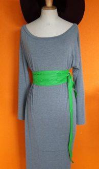 Vintage grijze lange jurk Je m'Appelle L/XL,Goosvintage