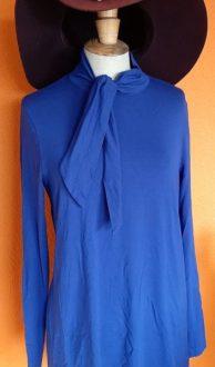 Vintage blauwe koltrui Kyra & Ko maat L