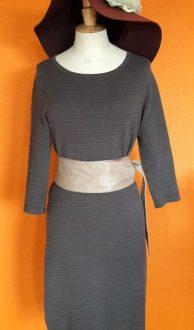 Grijze vintage jurk By-Bar maat 38,Goosvintage