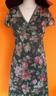 groene vintage jurk King Louie maat S,goosvintage