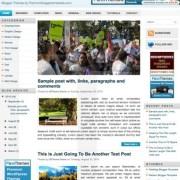 Blue News Blogger Templates