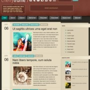 Cherry Truffle Blogger Templates