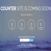 Counter coming soon Blogger Templates