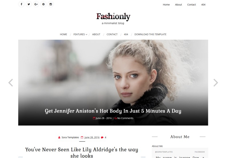 Fashionly Blogger Template. Free blogger templates for create fashion and online magazine blogs. Get completely free blogger templates from gooyaabi. Fashionly Blogger Template.