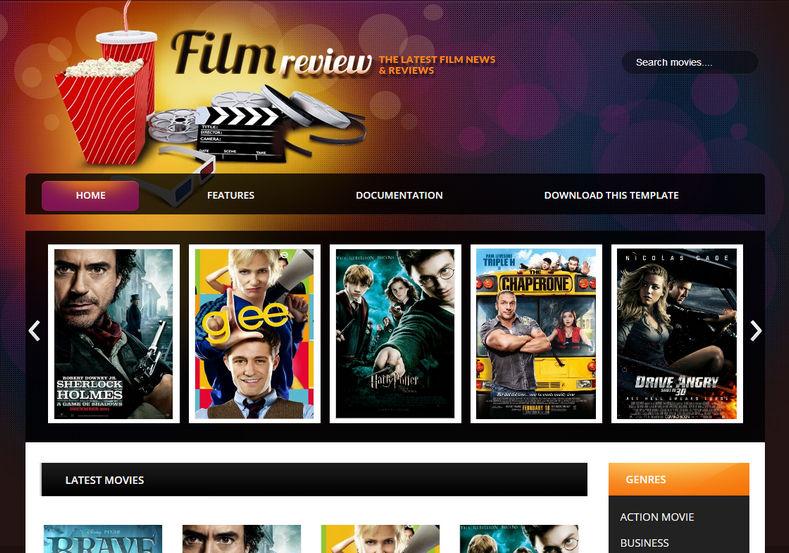Film Reviews Blogger Template 4
