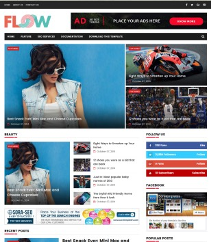 Flow SportsMag Blogger Templates