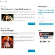 Foundyet Responsive Blogger Templates
