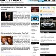 Groove Black Blogger Templates