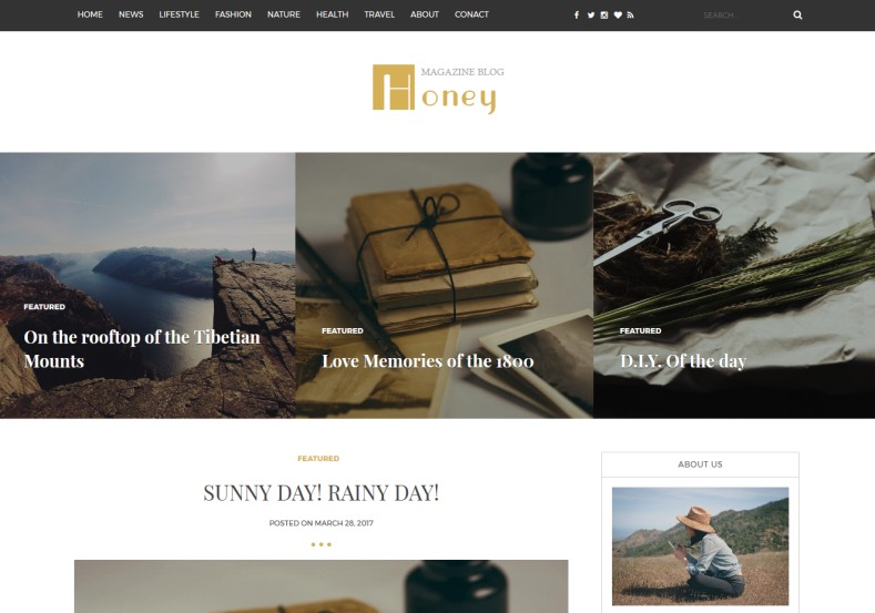 Honey Blogger Template. Download latest free blogger template absolutely for free. Honey Blogger Template.