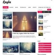 Layla Responsive Blogger Templates