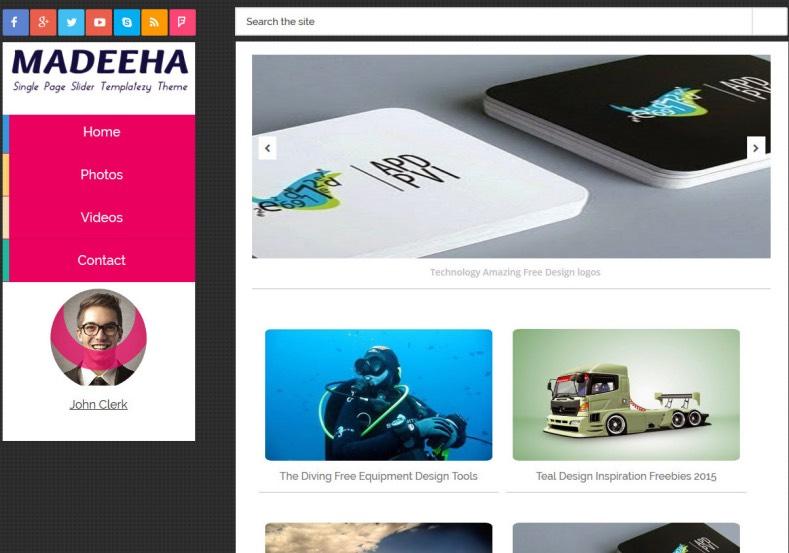 Madeeha Onepage Slide Blogger Template Blogspot Templates 2019