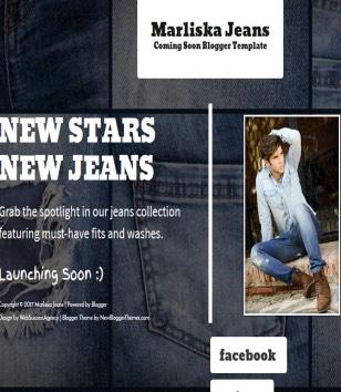 Marliska Jeans Soon Blogger Templates