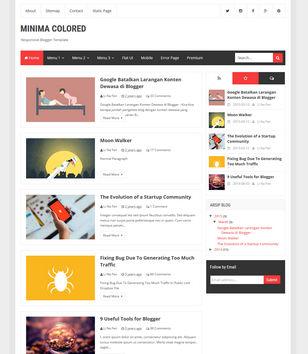 Minima Colored 3 Blogger Templates