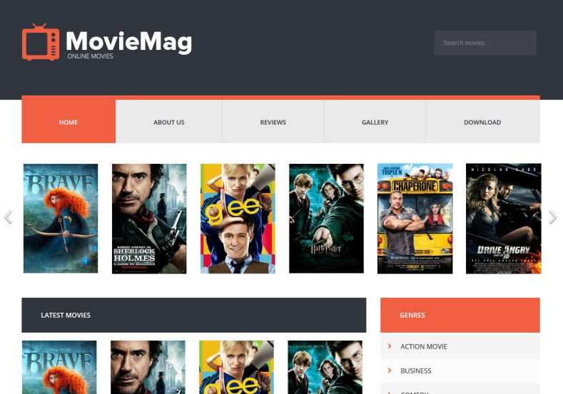 Movie Mag Blogger Template 2