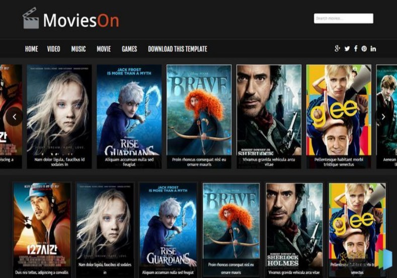 Movies On Blogger Template