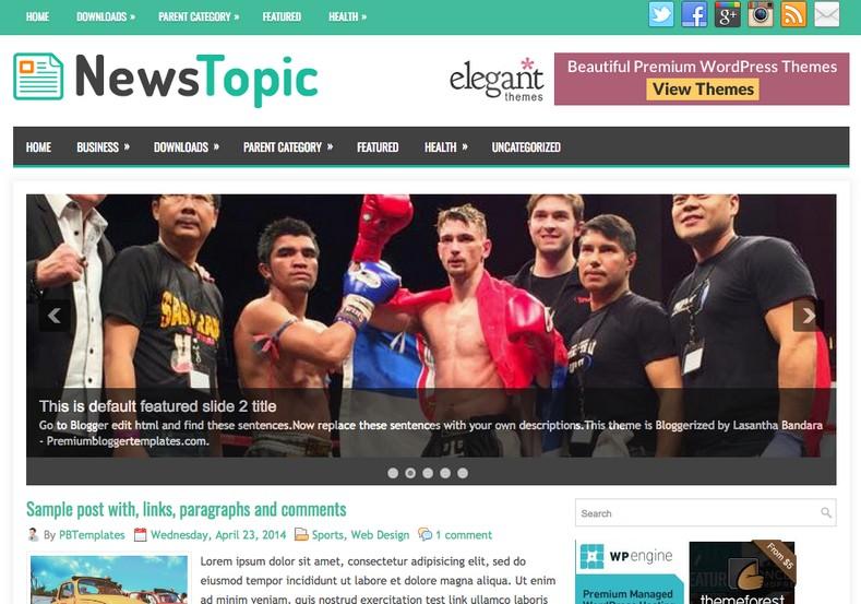NewsTopic Responsive Blogger Template. Blogger templates 2015. Free blogger templates. blogspot themes