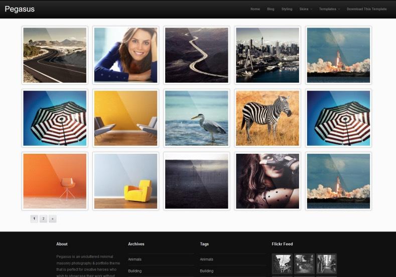 Pegasus Blogger Template 2014 Free Download
