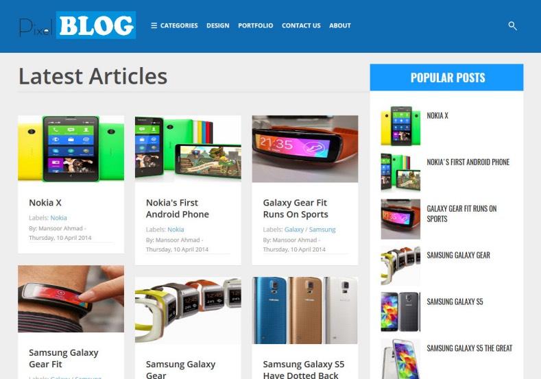 Pixel Blog Responsive Blogger Template 2014 Free Blogger