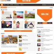 Punjab Press Responsive v2 Blogger Templates