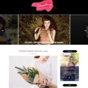 Raspberry Dark Blogger Templates