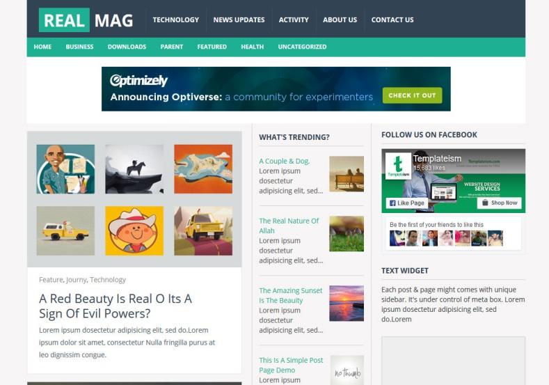 Realmag Responsive Blogger Template 2014 Free Blogger Templates