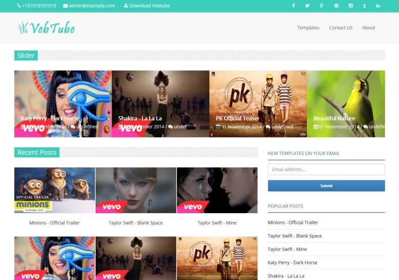 VebTube Blogger Template