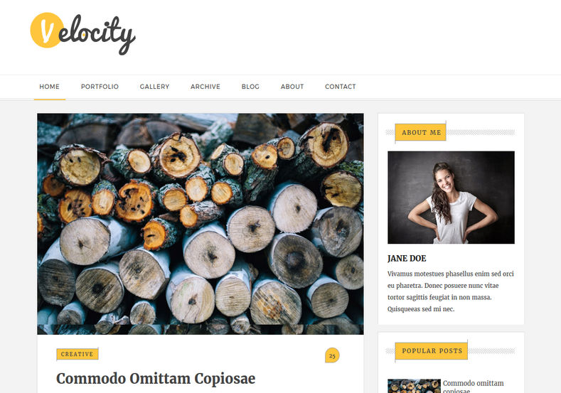 Velocity Blogger Template nice looking phography and personal blogger template 2018 Velocity Blogger Template