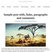 tdSimple Responsive Blogger Templates
