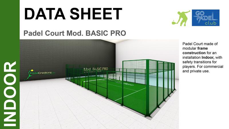 go padel club padel court basic indoor