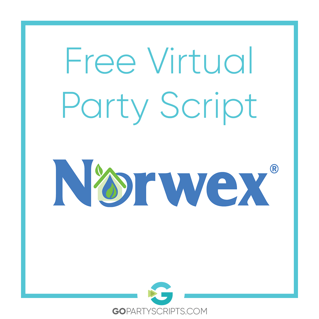 Free Norwex Virtual Sales Party Script Package Go Party Scripts