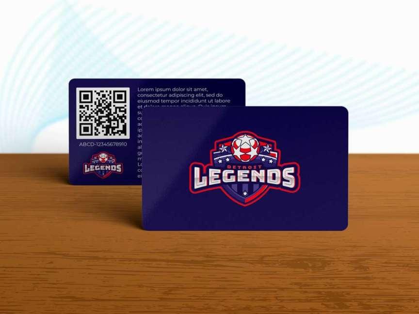 sports season pass card mockup
